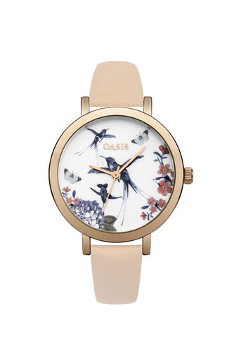 Oasis, STRAP DETAIL WATCH Rose Gold 0
