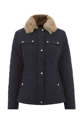 Oasis, QUILTED JACKET Navy 0