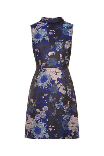 Oasis, Butterfly Jacquard Shift Multi Blue 0