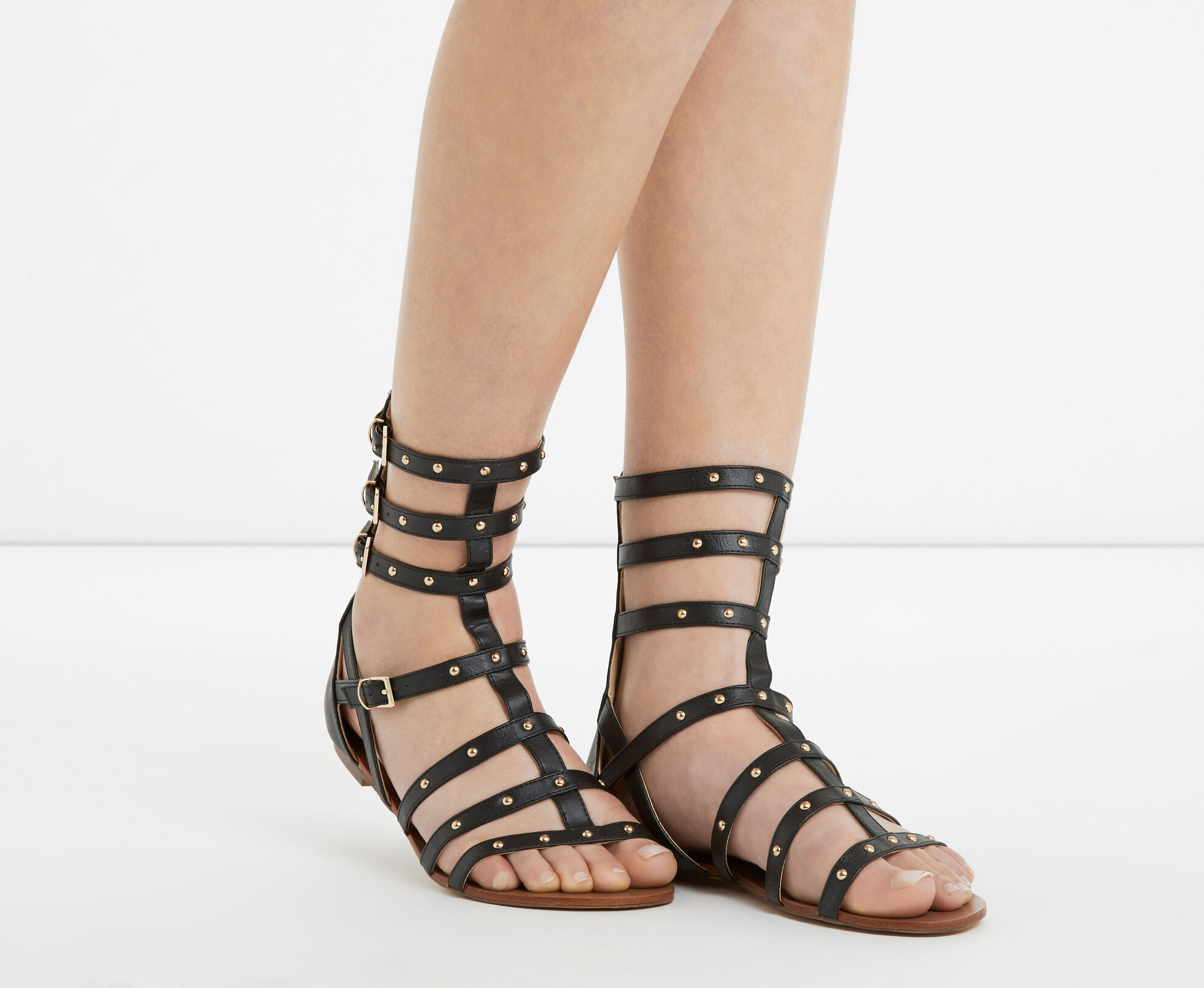Oasis, Stud Gladiator Sandals Black 1
