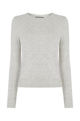 Oasis, Natalie Knit Top Pale Grey 0