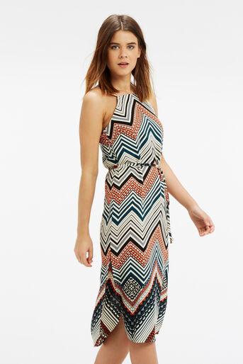 Oasis, Chevron Stripe Midi Dress Multi 1