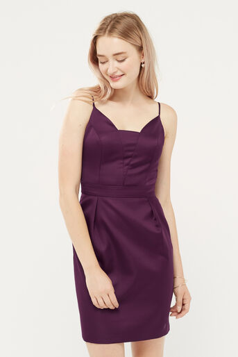 Oasis, SATIN TULIP CAMI DRESS Berry 1