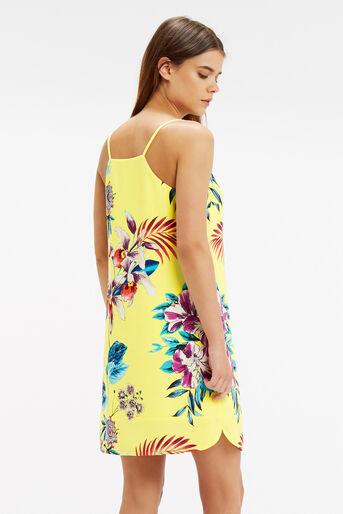 Oasis, Tropical Cami Dress Multi Yellow 3