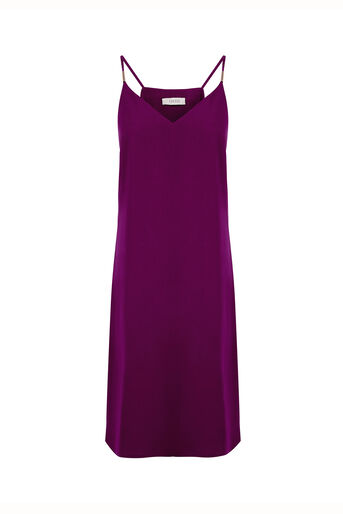 Oasis, Crepe Cami Dress - Longer Leng Mid Purple 0