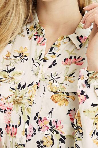 Oasis, Sofia Print Viscose Shirt Multi Natural 4