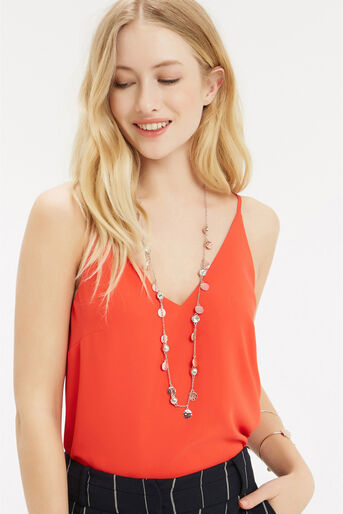 Oasis, DISC & CRYSTAL CHAIN NECKLACE Multi 1