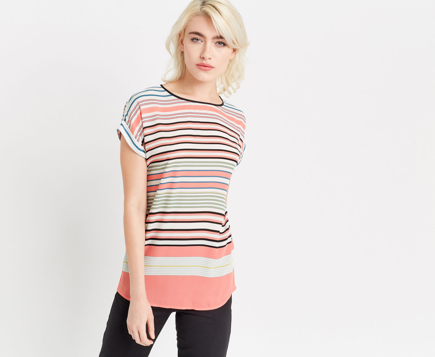 Oasis, STRIPE T-SHIRT Multi 1