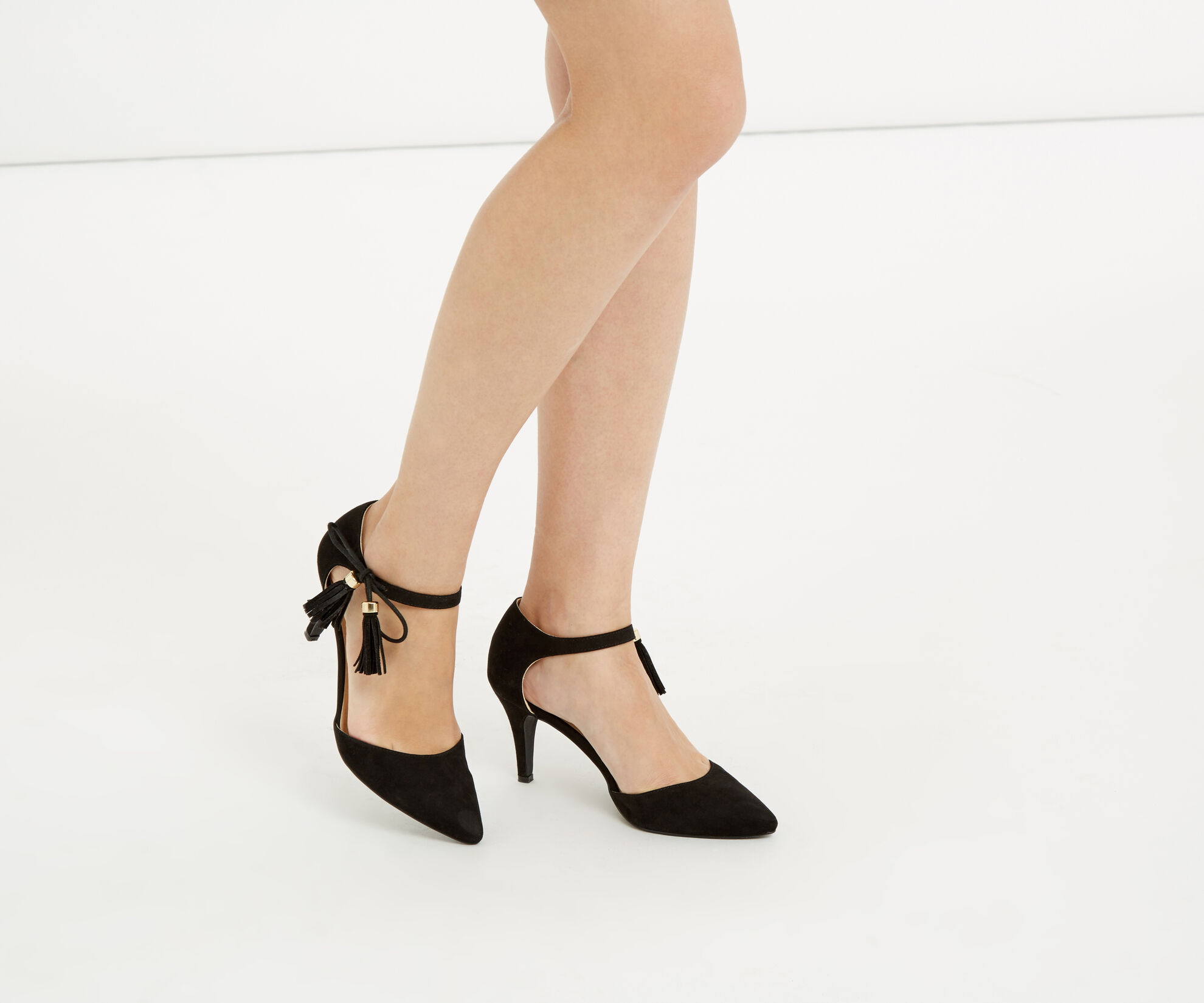 Oasis, Tilly Tassel Heel Black 1