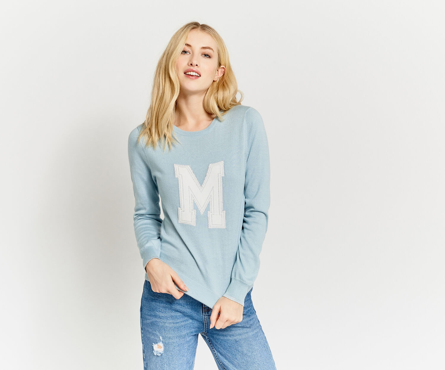 Oasis, LETTER JUMPER M Pale Green 1