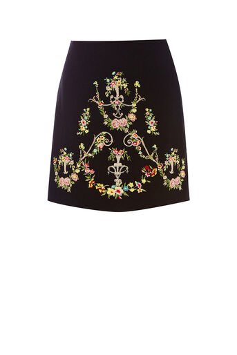 Oasis, NINA EMBROIDERED SKIRT Multi 0