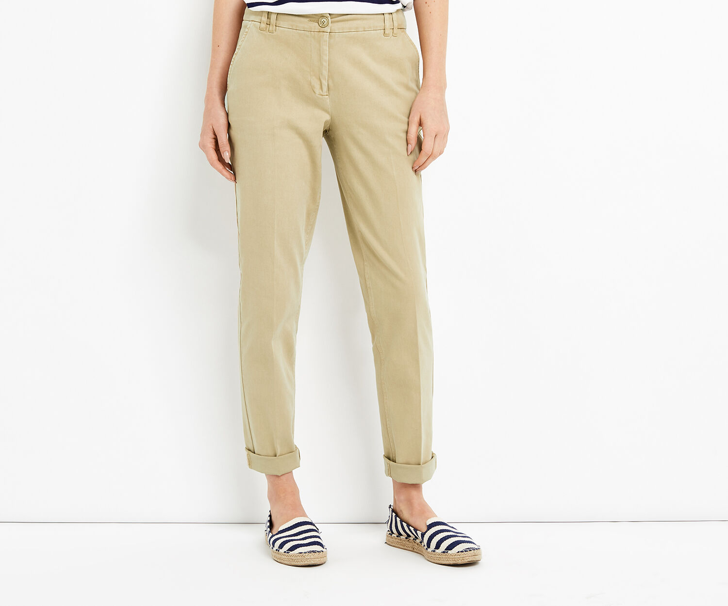 Oasis, LONGER LENGTH CHINO Mid Neutral 1