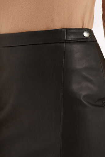 Oasis, Leather Wrap Pencil Skirt Black 4