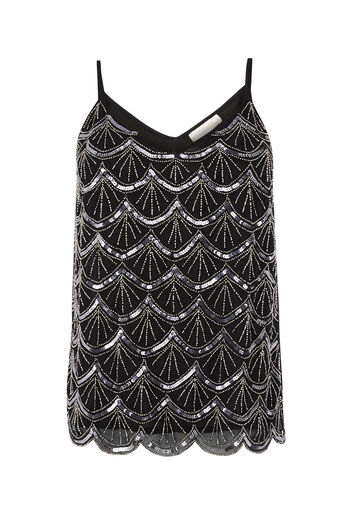Oasis, DECO EMBELLISHED CAMI Black 0
