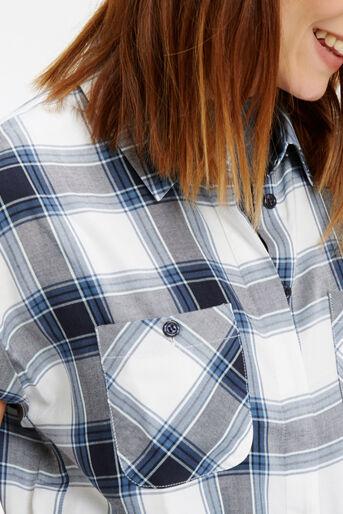 Oasis, Roll Sleeve Check Shirt Multi 4