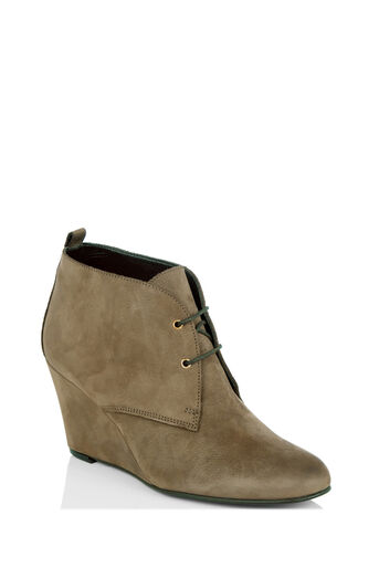 Oasis, AUDREY WEDGE LACE UP BOOT Mid Neutral 0