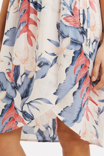 Oasis, Tropical Fancy Smocked Dress Multi Pink 4