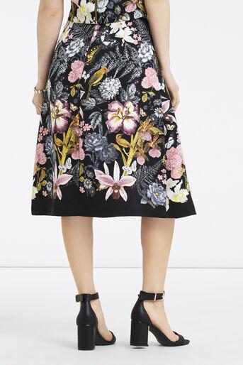 Oasis, Petite Botanical Midi Skirt Multi Black 3