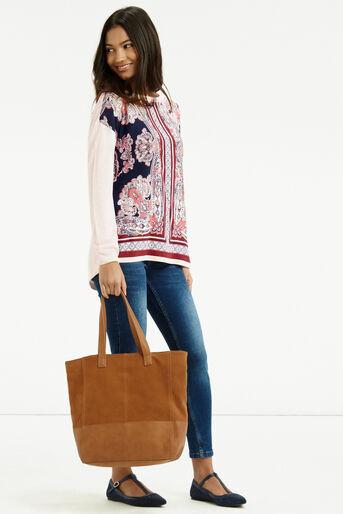 Oasis, Dakota Print Sweater Multi Natural 2