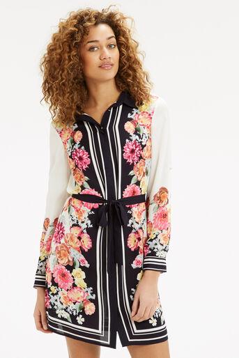 Oasis, Film Floral Shirt Dress Multi 1