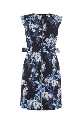 Oasis, TROPICAL ORCHID SHIFT DRESS Multi 0