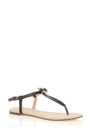 Oasis, BECKY BOW TOE POST Black 0