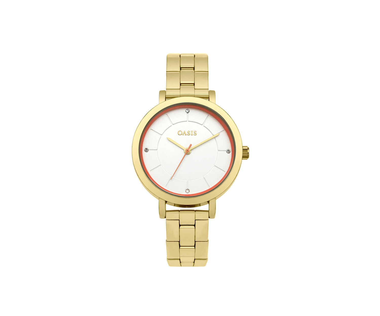 Oasis, STAINLESS STEEL BRACELET WATCH Gold 1
