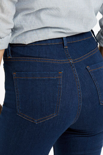 Oasis, Lily Ankle Grazer Jeans Dark Wash 4