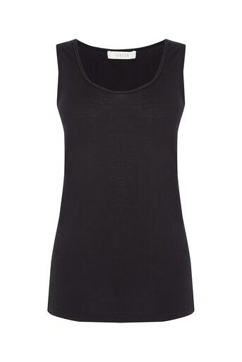 Oasis, Plait Trim Vest Black 0