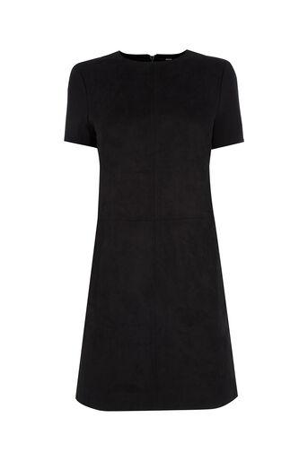 Oasis, Suedette Dress Black 0