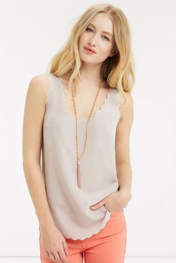 Oasis, LONG TASSEL NECKLACE Coral 1