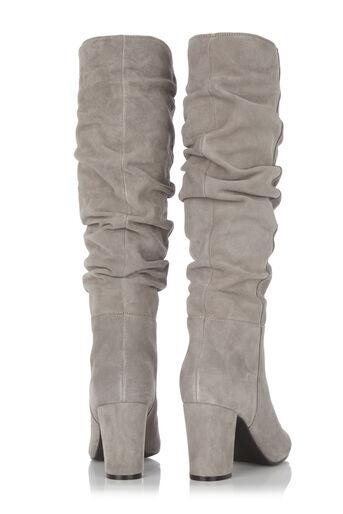 Oasis, Slouchy Block Heel Boot Mid Grey 1