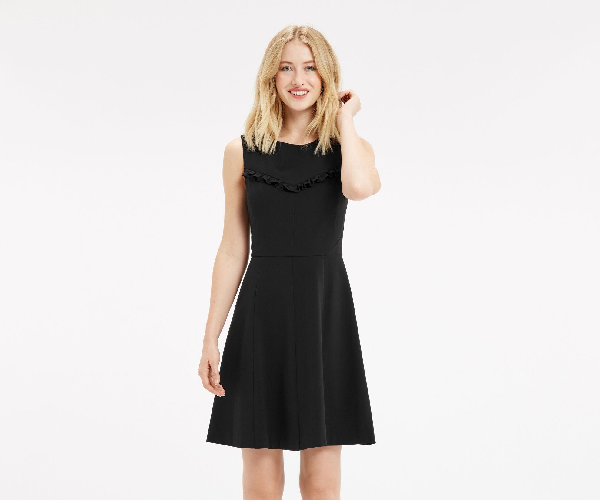 Oasis, FRILL DRESS Black 1