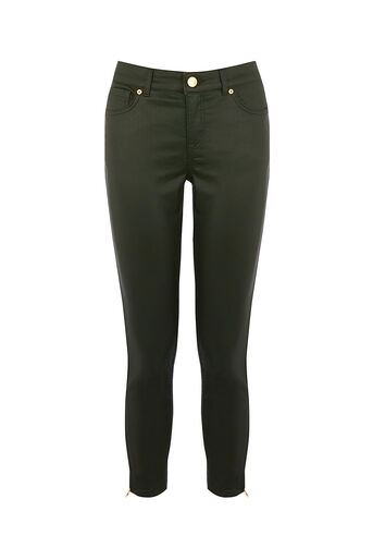 Oasis, DARK GREEN COATED ISABELLA Khaki 0