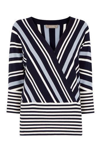 Oasis, Briony Stripe Knit Multi Blue 0