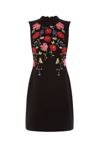 Oasis, POPPY EMBROIDERED SHIFT DRESS Multi 0