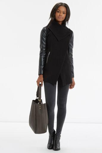 Oasis, Cara Drape Coat Black 2