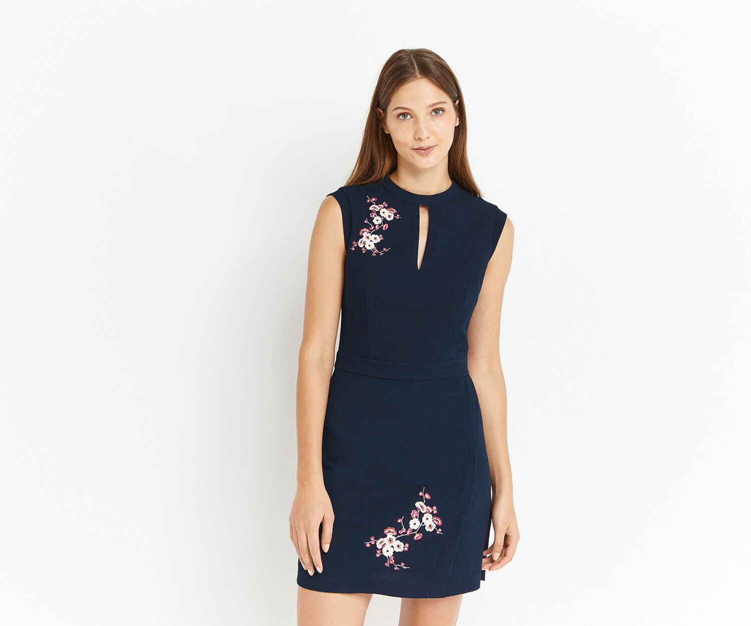 Oasis, BLOSSOM EMBROIDERED DRESS Multi 1