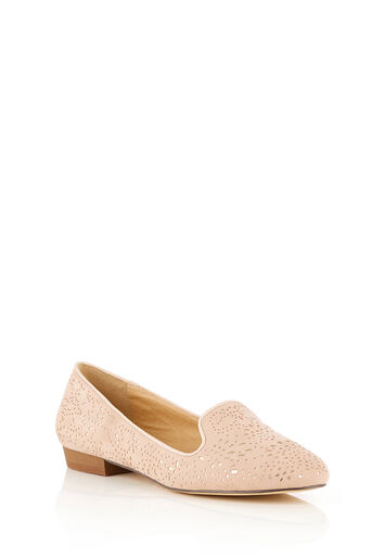 Oasis, BETSY CUT OUT BALLET FLAT Mid Pink 0