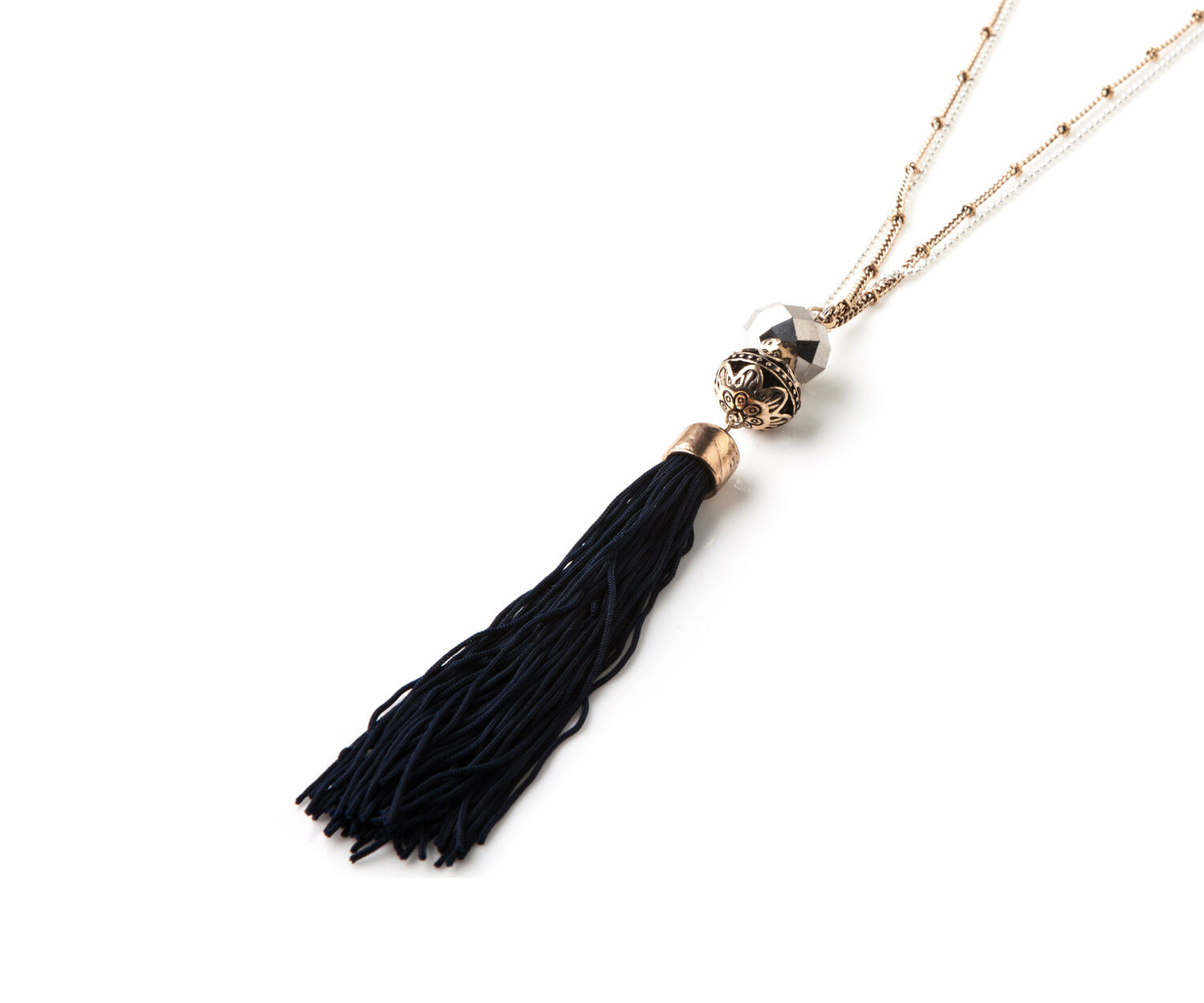 Oasis, TASSLE NECKLACE Multi Gold 1
