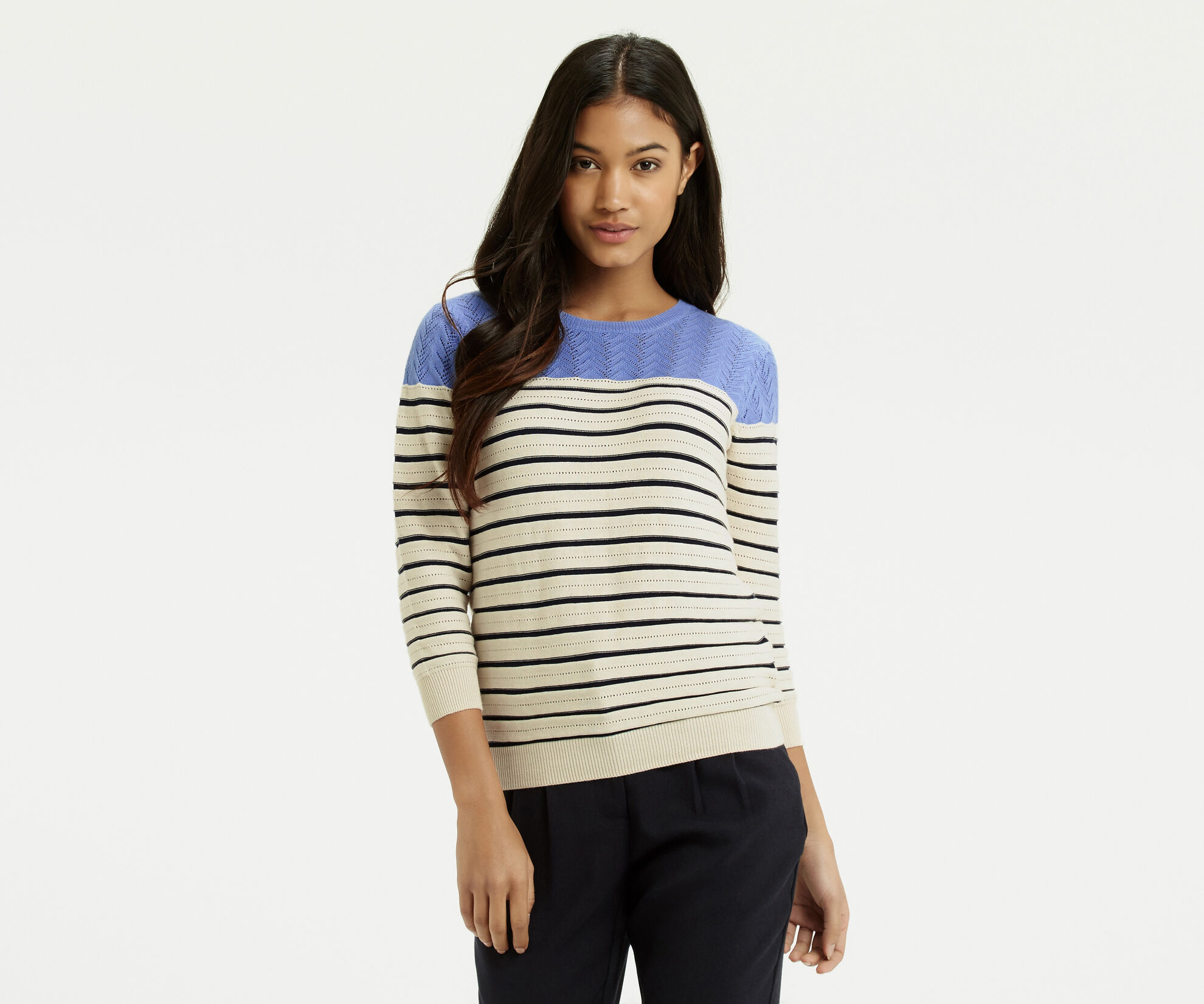 Oasis, Summer Pointelle Knit Off White 1