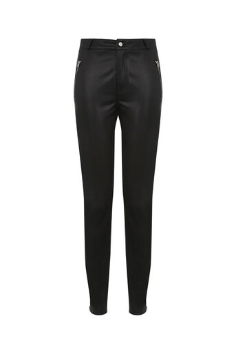 Oasis, FAUX LEATHER TROUSER Black 0