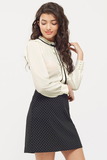 Oasis, DANDY TIE BLOUSE Off White 1