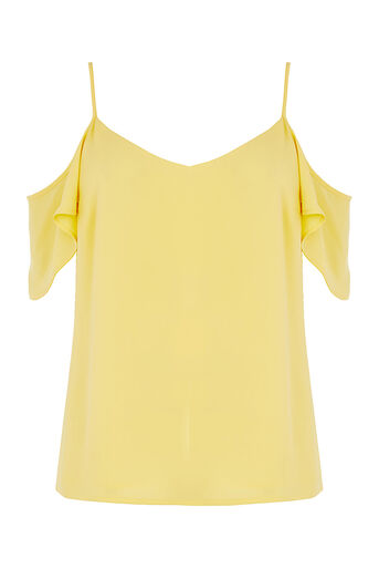 Oasis, COLD SHOULDER CAMI Mid Yellow 0