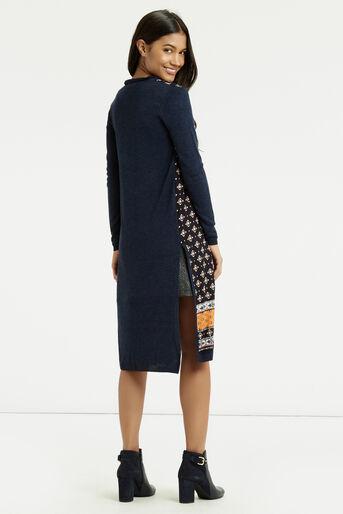 Oasis, Naomi Wovenfront Cardi Multi Blue 3