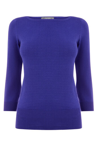 Oasis, TEXTURED KNIT Rich Blue 0
