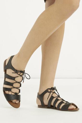 Oasis, Gracie Lace Up Sandal Black 1