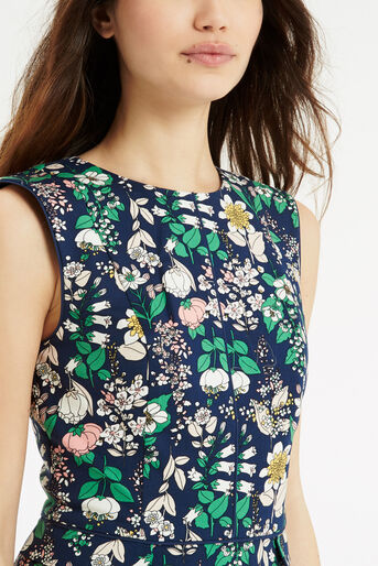 Oasis, The Print-Packed Shift Navy 4