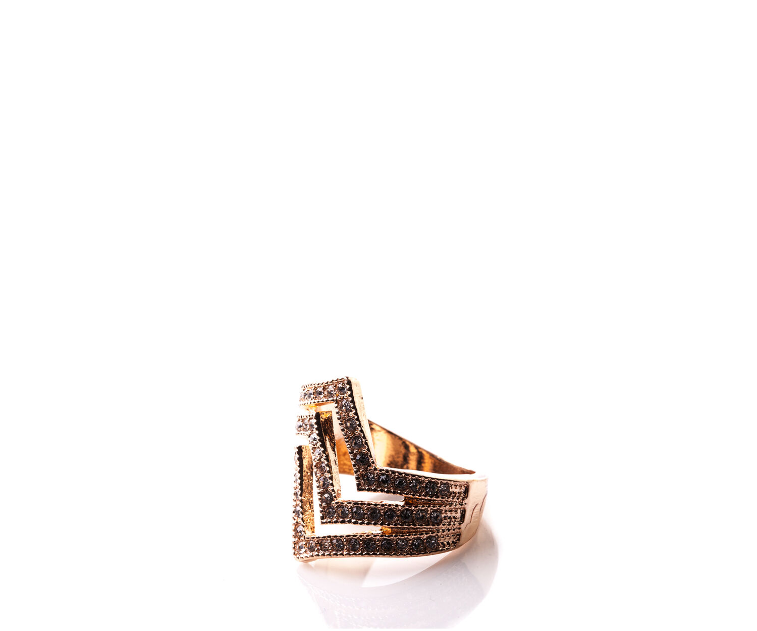 Oasis, TRIPLE STACKED RING Rose Gold 1