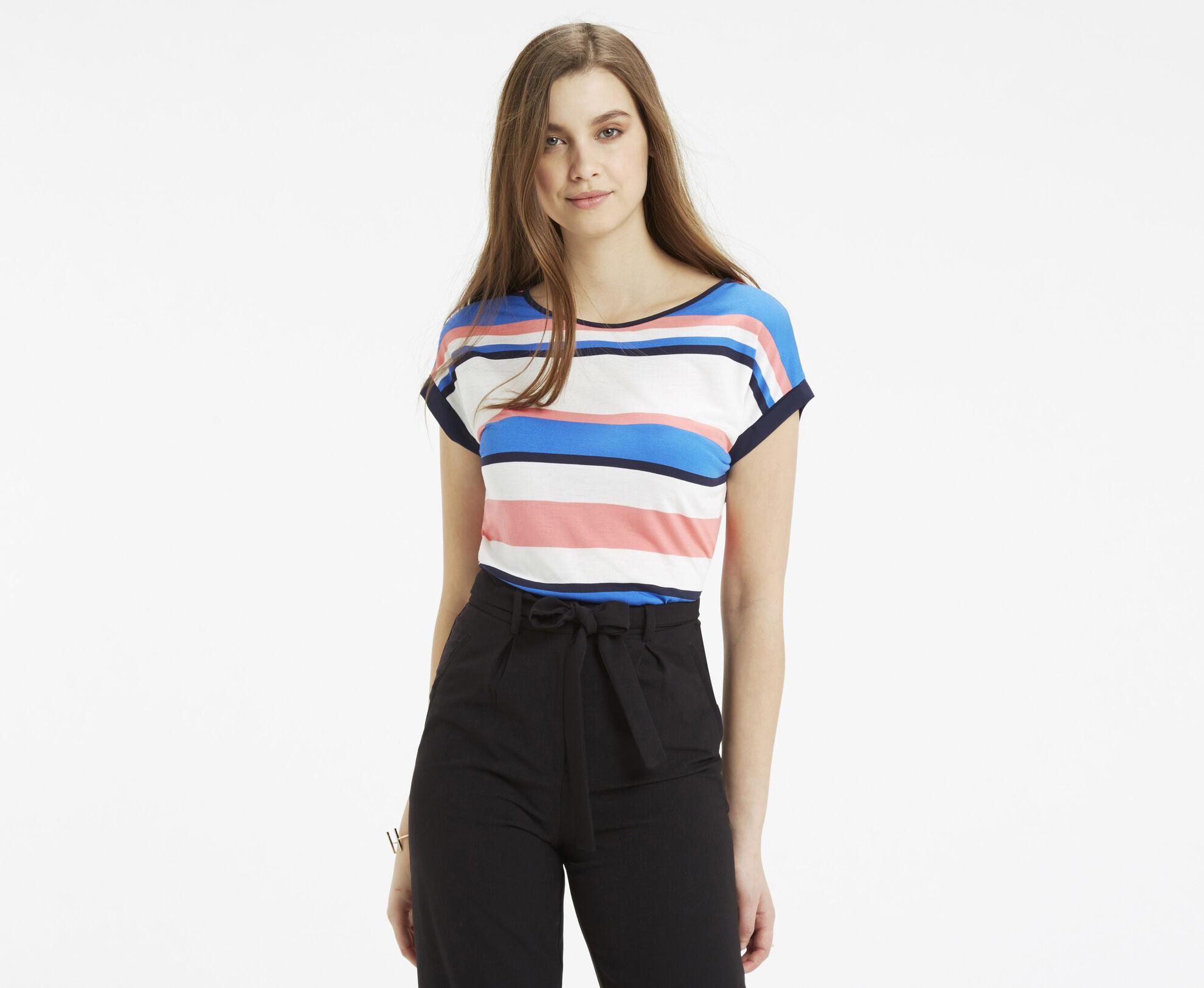 Oasis, Il De Ray Stripe T-Shirt Multi 1